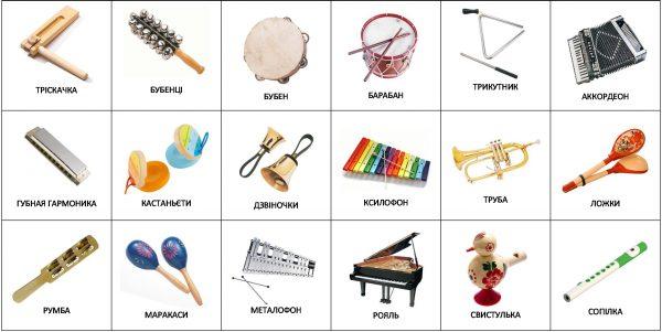 Музыкальные инструменты (на украинском)