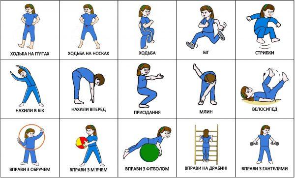 Физкультура (с подписями на украинском)