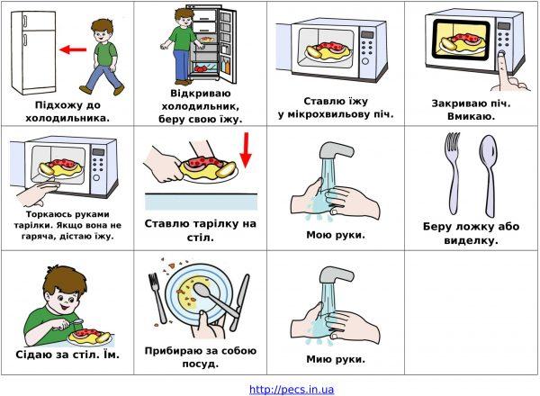 Подогреваю еду  (на украинском)