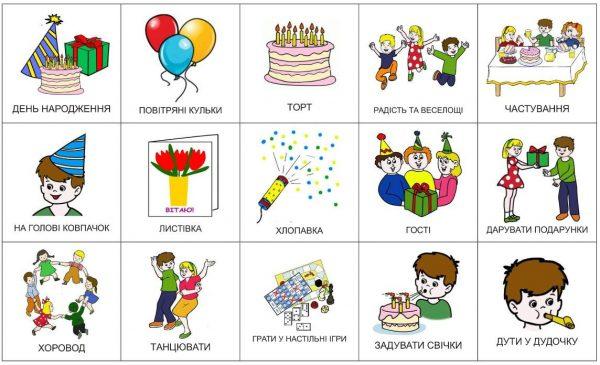 День рождения (подписи на украинском)