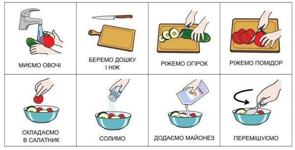 Салат с майонезом укр