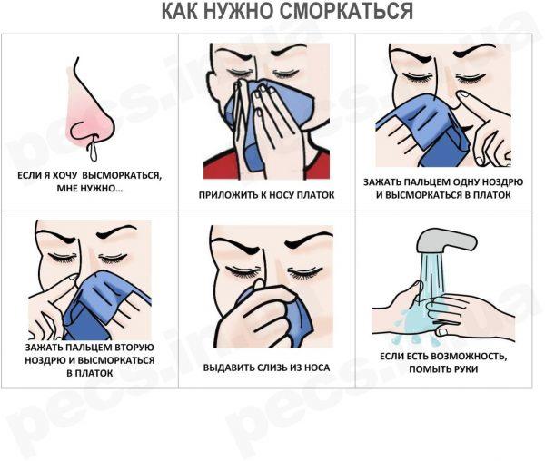 Как нужно сморкаться (на русском)
