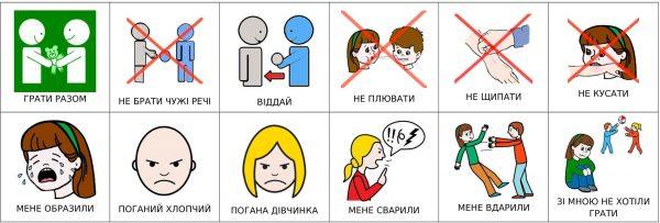 """Карточки """"Общение"""" для девочки с подписями на украинском 1"""
