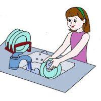 Девочка-тем-моет-посуду