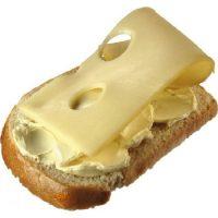 Карточка бутерброд с сыром