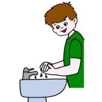 Карточка мыть  руки