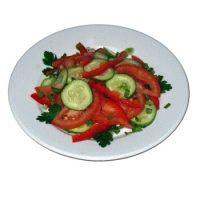 Карточка салат с помидорами и огурцами