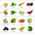 Карточки «Еда: овощи»