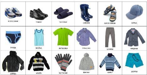 Карточки pecs одежда фото на русском