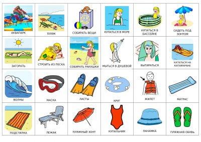 Карточки «Пляж»
